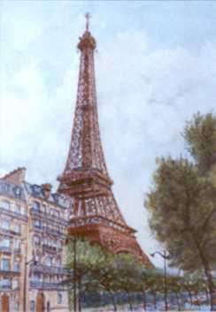Georges Jamet Painting Of Paris Tour Eiffel